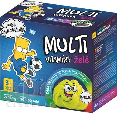 Revital MULTIVITAMÍNY The Simpsons BART želé 2x50 (100 ks) + Darček zábavná plastelína, 1x1 set