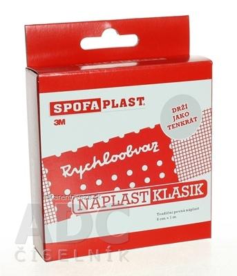 3M SPOFAPLAST č.264 Klasik Textilná náplasť rýchloobväz, pap. skladačka, 8cmx1m, pás, 1x1 ks