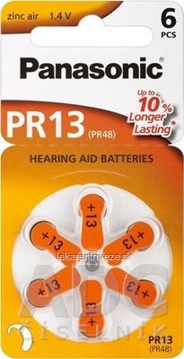 Panasonic PR13 (PR48) batérie do načúvacích prístrojov 1x6 ks