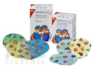 3M Opticlude Boys&Girls Mini očná náplasť 5x6 cm, detský motív, ortoptická, na liečbu strabizmu 1x30 ks