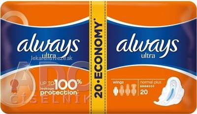 ALWAYS ULTRA NORMAL PLUS-DVOJBALENIE 20 hygienické vložky (economy) 1x20 ks