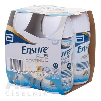 Ensure PLUS ADVANCE vanilková príchuť 4x220 ml