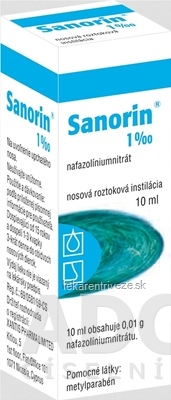 SANORIN 1 ‰ int nao (fľ.skl.hnedá) 1x10 ml