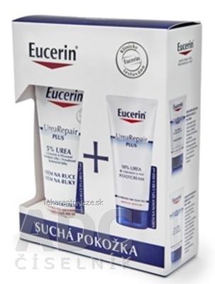 Eucerin UreaRepair PLUS balíček SUCHÁ POKOŽKA krém na nohy 100 ml + krém na ruky 75 ml, 1x1 set