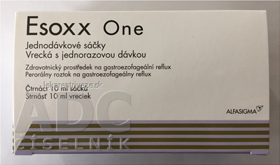 Esoxx One perorálny roztok vrecká na gastroezofageálny reflux 14x10 ml