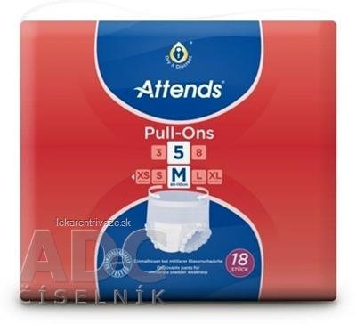 ATTENDS Pull-Ons 5 M elastické inkontinenčné nohavičky, savosť 2099 ml, obvod bokov 80-110 cm, 1x18 ks