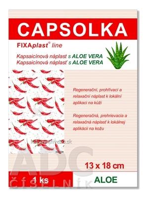 CAPSOLKA hrejivá kapsaicínová náplasť s ALOE VERA 13 x 18 cm, 1x1 ks