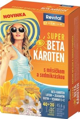 Revital PREMIUM SUPER BETA-KAROTÉN tbl (s nechtíkom a sedmokráskou) 40+20 zdarma (60 ks)