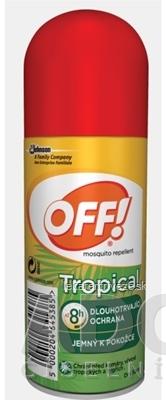 OFF! TROPICAL sprej rýchloschnúci (dry spray), repelent 1x100 ml