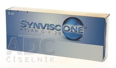 SYNVISC-ONE hylan G-F 20 viskoelastický materiál (s kys. hyalurónovou do kĺbov) 1x6 ml