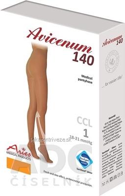 AVICENUM 140 Pančuchové nohavice, Micro veľkosť MN (2K), I.KT, Sanitized, zatvorená špica, telové, 1x1 ks