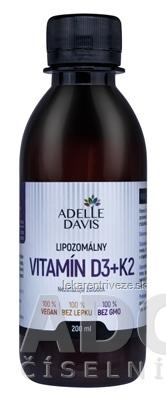 ADELLE DAVIS Lipozomálny VITAMÍN D3+K2 1x200 ml