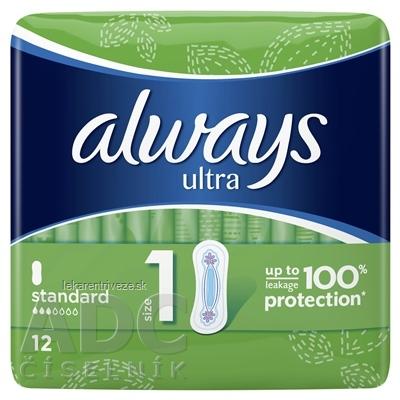 ALWAYS ULTRA STANDARD 12 hygienické vložky 1x12 ks