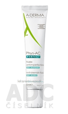 A-DERMA PHYS-AC PERFECT FLUIDE ANTI-IMPERFECTIONS fluid proti nedokonalostiam pleti 1x40 ml