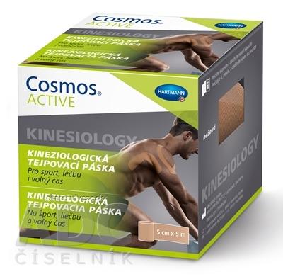 Cosmos ACTIVE Kineziologická tejpovacia páska béžová (5cm x 5m) 1x1 ks