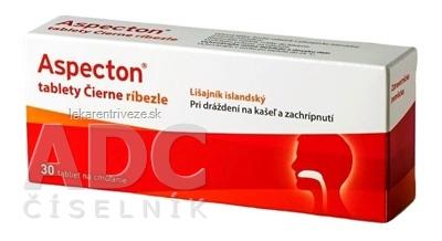 Aspecton tablety Čierne ríbezle s islandským lišajníkom 1x30 ks