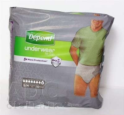 DEPEND SUPER S/M pre mužov naťahovacie nohavičky 1x10 ks