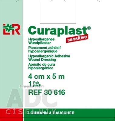 CURAPLAST Sensitive 4cmx5m rychloobväz na rany-5 m rolka v dávkovacej škatuli 1x1 ks