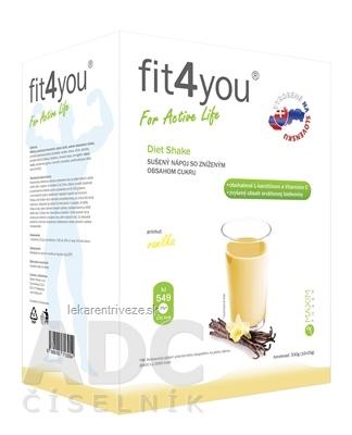 Fit4You Diet Shake VANILKA prášok na prípravu nápoja vo vrecúškach (á 33g) 1x10 ks