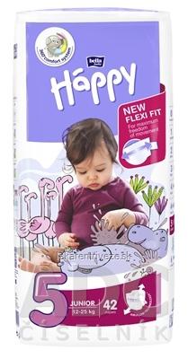 bella HAPPY 5 JUNIOR detské plienky (12-25 kg) 1x42 ks