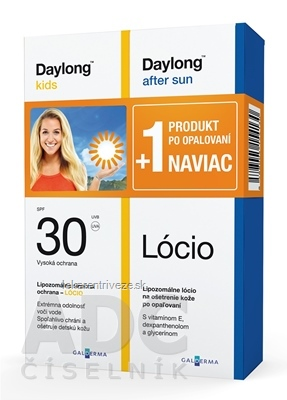 Daylong kids SPF 30 + After sun Lócio NAVIAC lócio 2x200 ml, 1x1 set