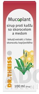 Mucoplant Sirup proti kašľu so skorocelom a medom sir (fľ.skl.hnedá) 1x100 ml