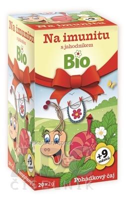 APOTHEKE ROZPRÁVKA Na imunitu s jahodou Bio bylinný čaj (od ukončeného 9. mesiaca) 20x2 g (40 g)