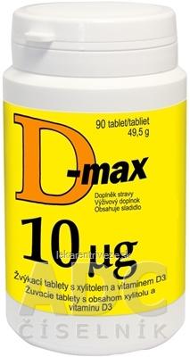Vitabalans D-max 10 µg tbl 1x90 ks