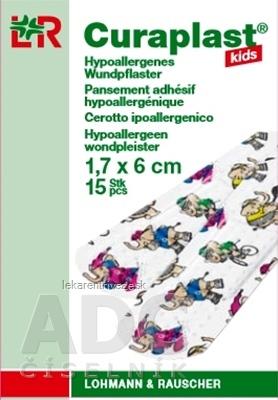CURAPLAST KIDS náplasť v skladacej škatuli,jednotlivo hygienicky zabalené 1x15 ks