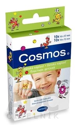 COSMOS Detská náplasť na rany, 2 veľkosti (1,9cmx7,2cm) (1,6cmx5,7cm) 1x20 ks