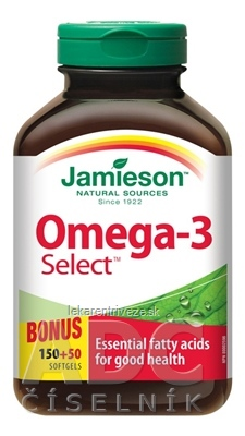 JAMIESON OMEGA-3 SELECT 1000 mg cps 1x200 ks