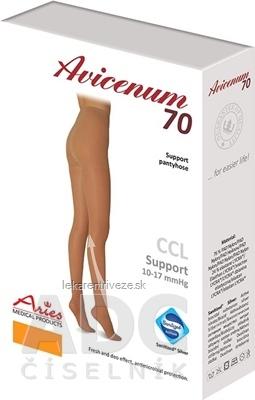 AVICENUM 70 Pančuchové nohavice veľkosť L+ (170-176/116-124), A.KT, Sanitized, veľký klín, telové, 1x1 ks