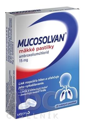 MUCOSOLVAN mäkké pastilky pas orm 15 mg 1x20 ks