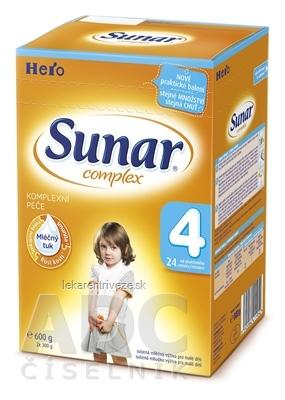 SUNAR COMPLEX 4, nový mliečna výživa (od ukonč. 24. mesiaca) inov.2016 (2x300 g) 1x600 g
