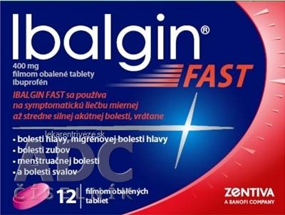 Ibalgin FAST tbl flm 400 mg (blis.) 1x12 ks