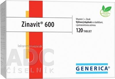 GENERICA Zinavit 600 s pomarančovou arómou tbl (vitamín C + Zinok) 1x120 ks