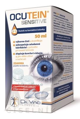 OCUTEIN SENSITIVE - DA VINCI roztok na kontaktné šošovky + zadarmo puzdro na šošovky, 1x50 ml