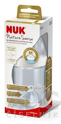 NUK FĽAŠA dojčenská Nature Sense 260 ml, silikónový cumlík otvor M (6-18 m.) 1x1 ks