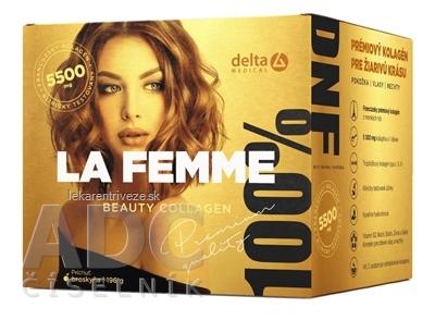 DELTA LA FEMME Beauty Collagen + darček rozpustný prášok na prípravu nápoja 1x196 g + make-up štetec zadarmo, 1x1 set