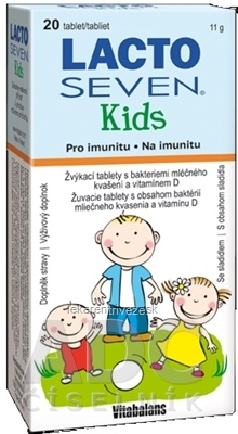 Vitabalans LACTOSEVEN Kids žuvacie tablety 1x20 ks