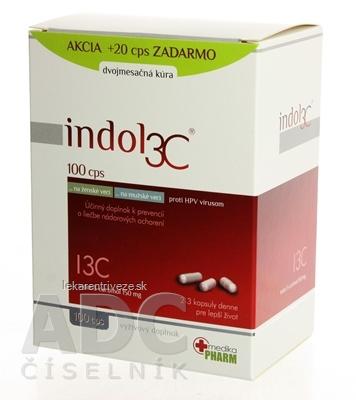 INDOL3C cps dvojmesačná kúra, AKCIA, 100+20 zadarmo (120 ks)