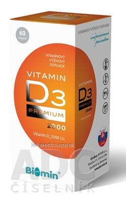 Biomin VITAMIN D3 PREMIUM 2000 I.U. cps 1x60 ks