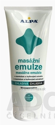 ALPA MASÁŽNA EMULZIA CHLADIVÁ S MENTOLOM 1x210 ml