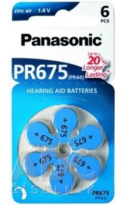 Panasonic PR675 (PR44) batérie do načúvacích prístrojov 1x6 ks