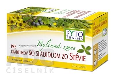 FYTO Bylinná zmes PRE DIABETIKOV so sladidlom zo stévie 20x1,5 g (30 g)
