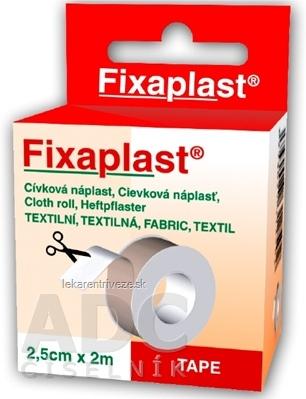 FIXAplast Cievková náplasť textilná 2,5cm x 2m, 1x1 ks