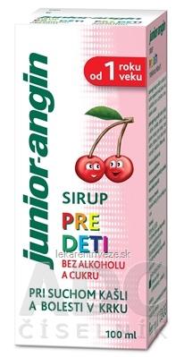 Junior-angin sirup pre deti s čerešňovou príchuťou 1x100 ml