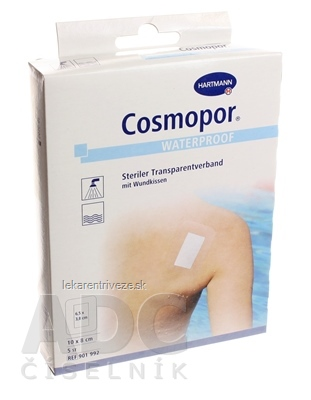 Cosmopor Waterproof sterilný vodeodolný (10 x 8 cm), 1x5 ks