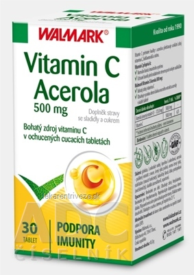 WALMARK Vitamin C Acerola 500 mg tbl (cmúľacie)1x30 ks
