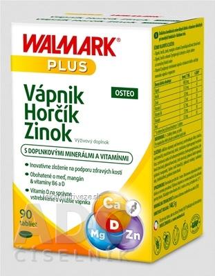 WALMARK Vápnik Horčík Zinok OSTEO (inov.obal 2018) tbl 1x90 ks